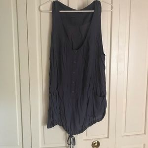 Topshop Lazy Pocket Tunic Tank Sz XL